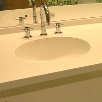 Bathroom countertop and sink - Corian